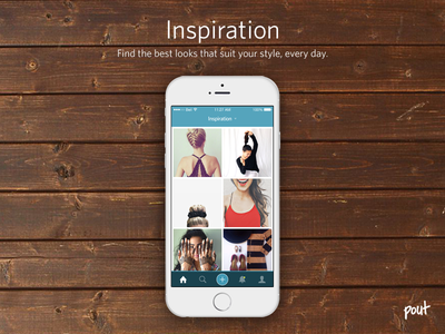 Pout - Fashion and Beauty Inspiration inspiration pout fashion beauty iphone 6 ios8 ios wood texture mobile app