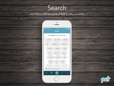 Pout Search search pout ios mobile ui search ui wood iphone 6 app