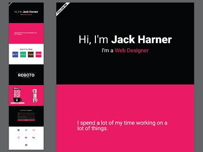 JackHarner.Com web design portfolio minimal