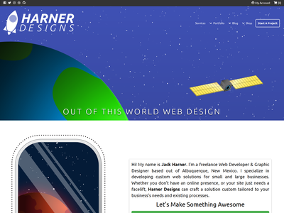 HarnerDesigns.com web branding vector ui illustration web design portfolio