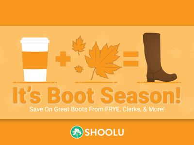 Boot Season Campaign - Shoolu.com shoes marketing social media social media banner icon vector typography illustration design