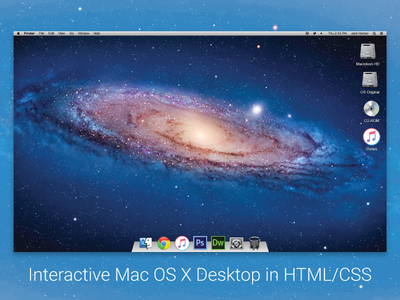 Mac OS X in HTML/CSS pixel perfect design css html web design