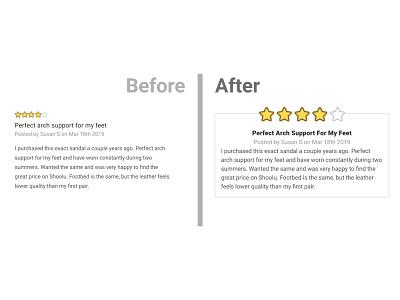 Shoolu Review Cards Refresh web design typography design