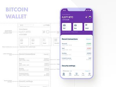 Mobile app concept for a bitcoin digital wallet and marketplace wallet bitcoin wallet digitalwallet bitcoin mobile ui