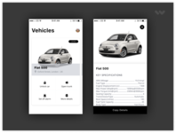 Mobile app to manage your vehicles