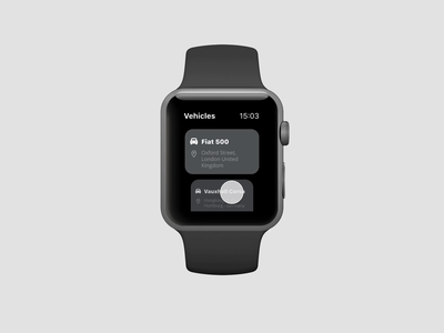Watch app to manage your vehicles vehicles cars mobility watch apple watch apple