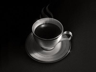 Coffee procreate illustration martine lindstrøm kaffe designer fuel black coffee illustration procreate coffee cup blackandwhite noir coffenoir blackcoffee coffee