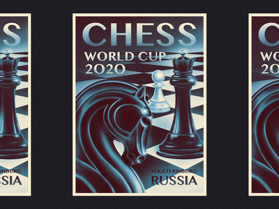 Chess World Cup Poster art design illustration procreate poster design retro chessboard queens gambit horse poster art poster yekaterinburg chess piece chess world cup chess