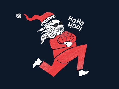 Bad santa rejected illustration rejected work christmas villain evil nisse santa