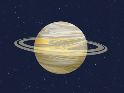 Saturn space art collage marbled saturn planet planets space
