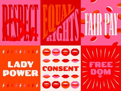 International Women's Day balance for better international womens day equality women feminist march 8 fair pay equal rights girlpower lettering illustration internationalwomensday inwd