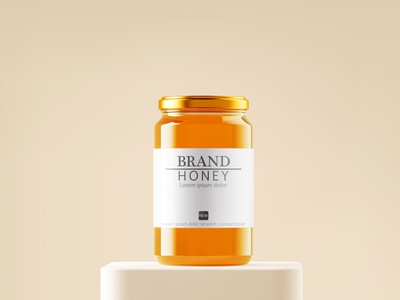 Free Honey Jar Mockup PSD honey jar mockup honey mockup jar mockup product design free mockup mockup design psd mockup mockup mockup psd freebies