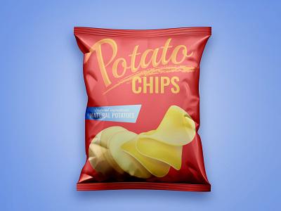 Free Chips Bag Mockup PSD bag mockup chips mockup product design free mockup mockup design psd mockup mockup mockup psd freebies