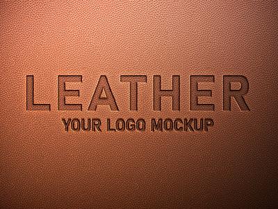 Free Leather Logo Mockup PSD mockups leather mockup logo mockup free mockup mockup design psd mockup mockup mockup psd freebies