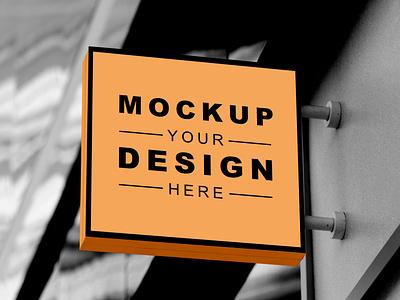 Free Signage Mockup PSD signage mockup sign mockup mockups free mockup mockup design psd mockup mockup mockup psd freebies