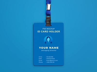 Free ID Card Mockup PSD id card mockup id card free mockup mockup design psd mockup mockup psd mockup freebies