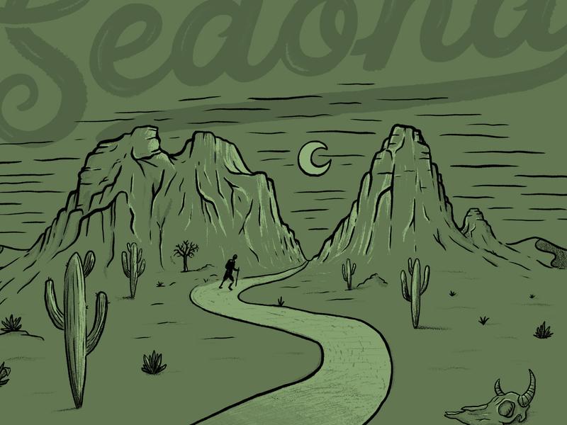 Sedona. The Verde Valley doodling lettering drawing branding handlettering graphicdesign design illustration