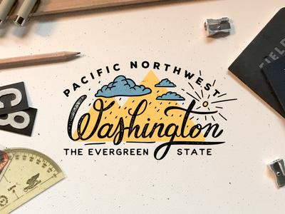 Washington handlettered oldschool vintage branding identity vectorart vector lettering handlettering graphicdesign design illustration