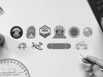 Some Work oldschool vintage branding identity vectorart vector camping graphicdesign design illustration