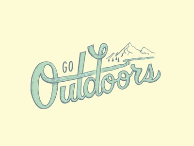 Go Outdoors branding adventure outdoors vectorart vector handlettering graphicdesign design illustration