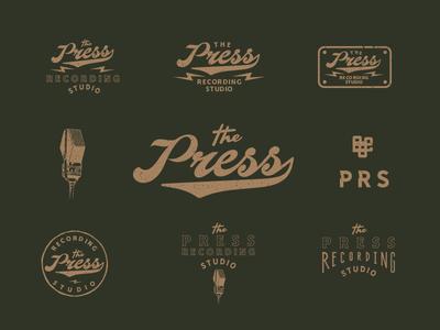 The Press Recording Studio handlettering typography vector graphicdesign logo drawing identity branding vectorart illustration design