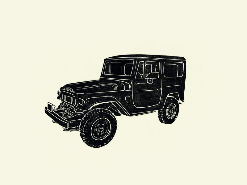Land Cruiser logo vintage doodling doodle drawing vector vectorart illustration graphicdesign design