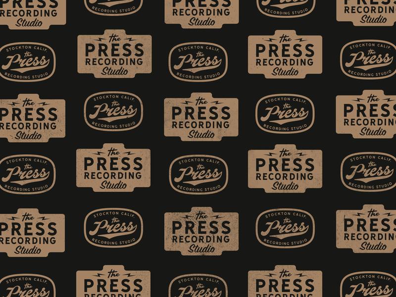 Press Pattern draw handlettered type logo graphics lettering oldschool vintage typography drawing doodle identity branding handlettering vectorart vector illustration graphicdesign design