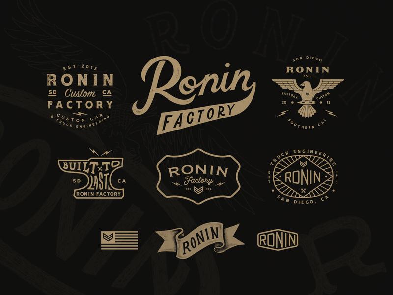 Ronin Factory Branding Work lettering doodle identity graphicdesign drawing branding handlettering vectorart illustration design