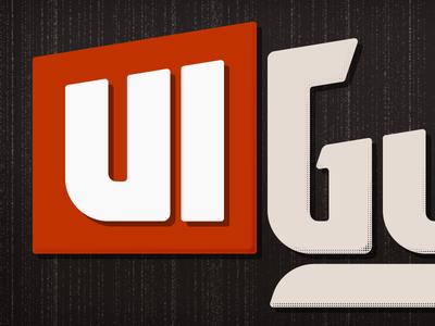 The Ui Guy Logo Branded branding brand logo typography logotype illustrator adobe