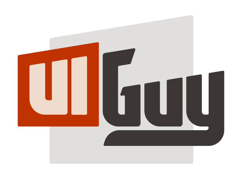 The ui guy logo spot color alternate
