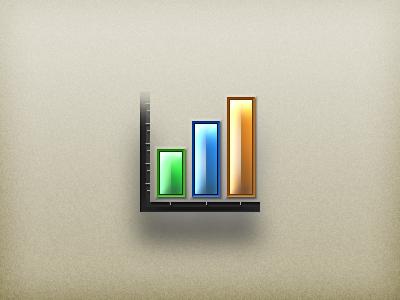 Analytics Icon photoshop vector icon analytics stats bar chart accordance