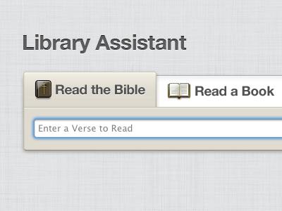 Library Assistant Concept ui biblereader interface design icon design photoshop illustrator bible
