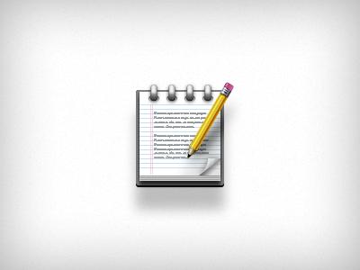 User Notes Icon photoshop vector icon illustration notes notepad pencil accordance