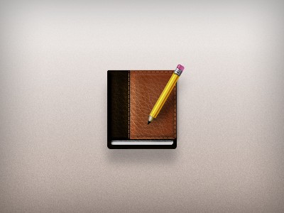 User Tools Icon photoshop vector icon illustration notes journal pencil accordance