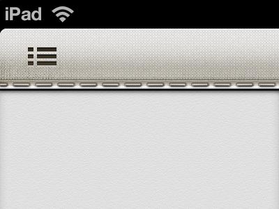 Potential Toolbar Design for iPad App ios iphone ipad photoshop texture fabric stitching