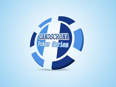Poker chip logo logo poker chip blue white zenit icon