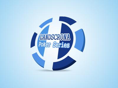 Poker chip logo