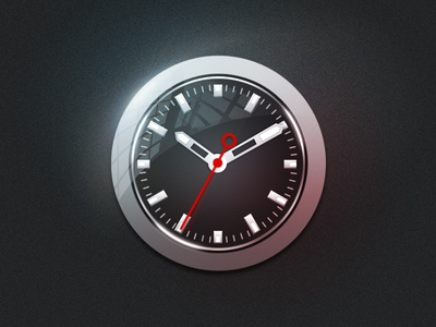Clock icon clock icon ios dark light time