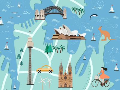 Sydney travel map