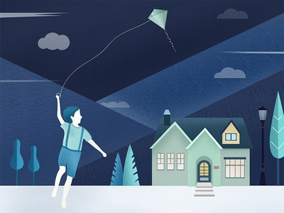 childhood and kite
