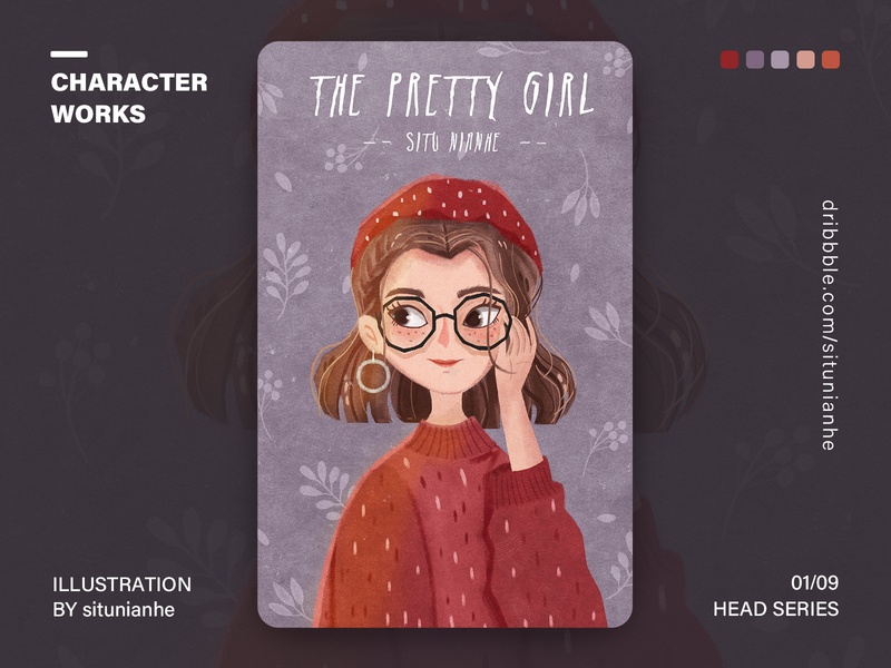 Character Head Series app character design characters head girl ui draw design illustration
