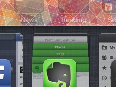 iOS Thumbnailed App Multitasking  ios multitasking app evernote apple ideas