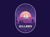Hillary Badge