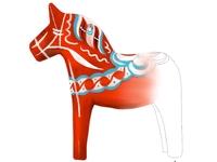 The unfinished Dala horse