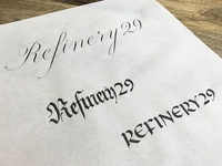 Refinery 29 in Calligraphy