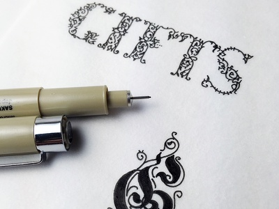 Tiny detailed letters holidays festive lettering hand lettering