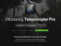 Teleprompter Pro Website