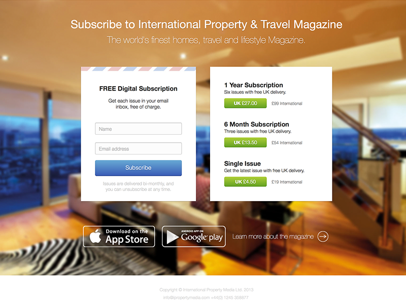 Magazine Subscription Landing Page By Joe Allen On Dribbble