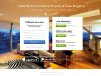 Magazine subscription landing page