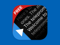 Teleprompter 2.0 iOS Icon